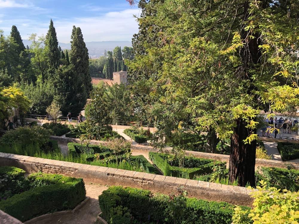 Jardines altos de la Alhambra y Generalife